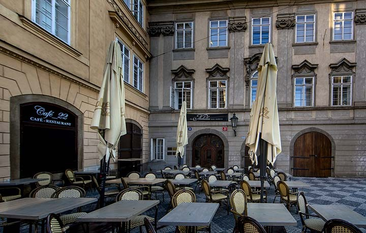 The Nicholas Hotel Residence Prague entrance & Café 22