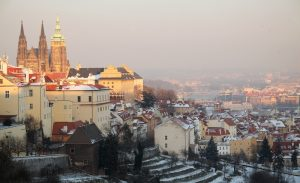 View from the Strahov Monastery to the downtown